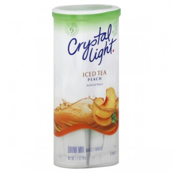 Crystal Light Peach Iced Tea Mix - Makes 12 Quarts