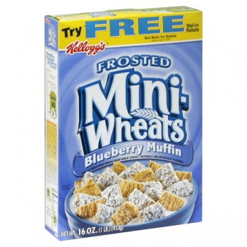 Kellogg's Mini Wheats Cereal Frosted Blueberry Muffin