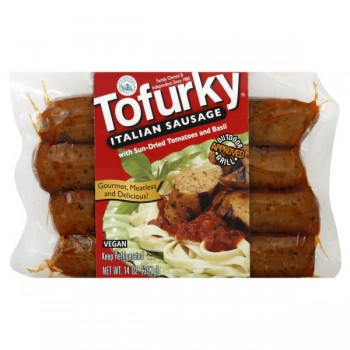 Tofurky Sausage Italian Sweet with Sun Dried Tomatoes and Basil - 4 ct