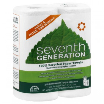 Seventh Generation Paper Towels 2-Ply White Unscented
