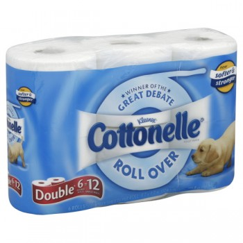 Cottonelle Bath Tissue with Ripples Double Roll 1-Ply