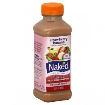 Naked Strawberry Banana-C 100% Juice Smoothie No Sugar Added All Natural