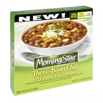 MorningStar Farms Veggie Entree Three-Bean Chili with Griller's Crumbles