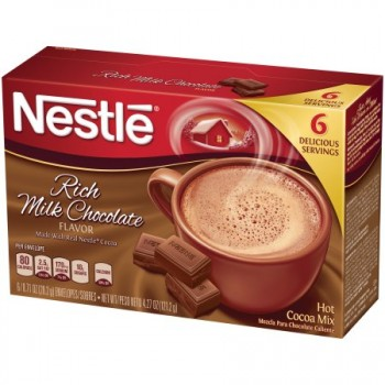 Nestle Hot Cocoa Rich Milk Chocolate - 6 ct