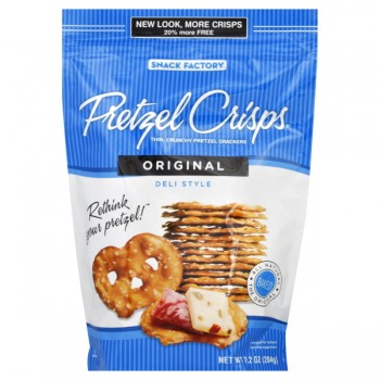 Snack Factory Pretzel Crisps Pretzel Crackers Deli Style Original Natural