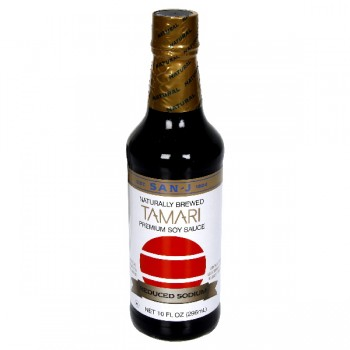 San-J Premium Soy Sauce Tamari Reduced Sodium Naturally Brewed