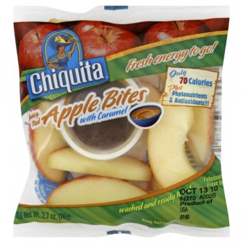 Chiquita Apples Bites Red with Caramel Dip