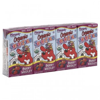 Hansen's Junior Juice Berry Medley Organic - 4 pk