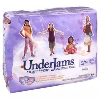 Pampers UnderJams Night Wear Size 7 Girls - 38-65 lbs Jumbo Pack