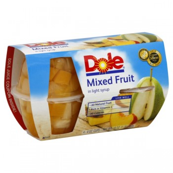 Dole Fruit Bowls Mixed Fruit in 100% Juice - 4 ct