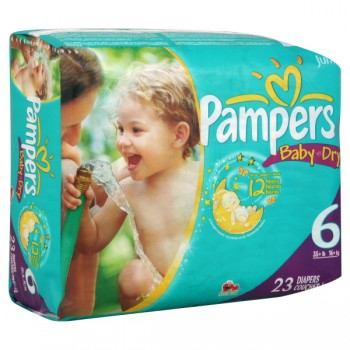 Pampers Baby-Dry Diapers Size 6 Both Jumbo Pack - 35+ lbs