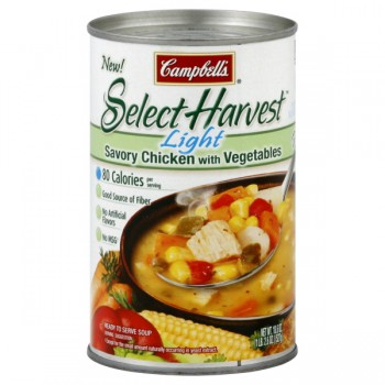 Campbell's Select Harvest Soup Savory Chicken with Vegetables Light