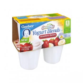 Gerber Graduates Yogurt Blends Snack Strawberry Banana - 4 ct