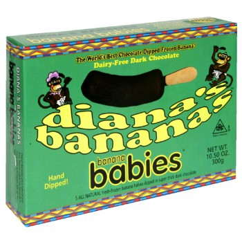 Diana's Bananas Banana Babies Dark Chocolate - 5 ct All Natural Frozen