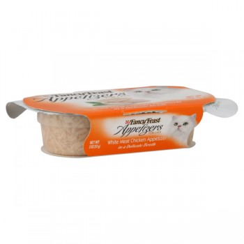 Fancy Feast Appetizers for Cats White Meat Chicken in Broth