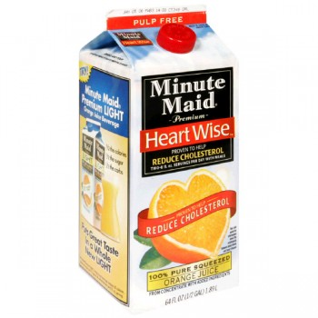 Minute Maid Premium Heart Wise 100% Orange Juice Pulp Free