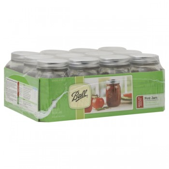 Ball Mason Jars Regular Mouth Pint Full Case