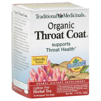 Traditional Medicinals Throat Coat Traditional Herbal Tea Bags Organic