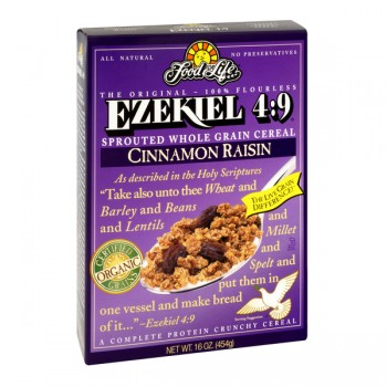 Food For Life Cereal Ezekiel 4:9 Sprouted Grain Flourless Cinnamon Raisin