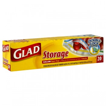 Glad Zipper Storage Bags Gallon