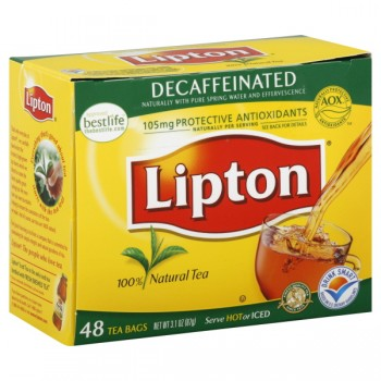 Lipton Tea Bags Decaffeinated 100% Natural