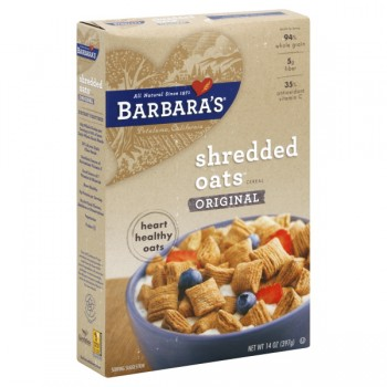 Barbara's Bakery Shredded Cereal Bite Size Oats 100% Natural
