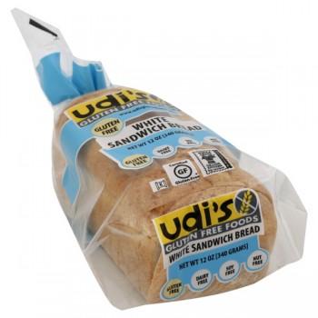 Udi's Gluten Free Foods Bread White Sandwich Frozen