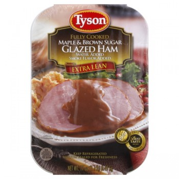Tyson Ham Maple & Brown Sugar Glazed Extra Lean Fully Cooked Refrigerated