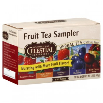 Celestial Seasonings Fruit Sampler Herbal Tea Bags Caffeine Free