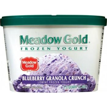 Meadow Gold Frozen Yogurt - Blueberry Granola Crunch
