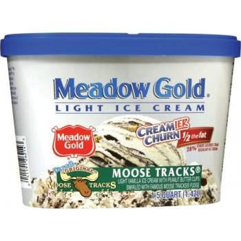 Meadow Gold Creamier Churn - 1/2 Fat - Moose Tracks
