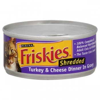 Friskies Wet Cat Food Shredded Turkey & Cheese in Gravy
