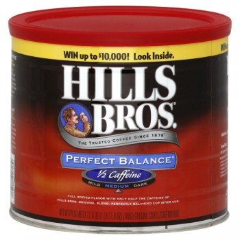 Hills Bros Perfect Balance Medium Roast Coffee 50% Less Caffeine (Ground)