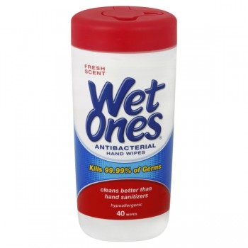 Wet Ones Antibacterial Hands & Face Wipes Fresh Scent