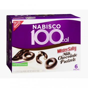 Nabisco 100 Cal Mister Salty Covered Pretzels Chocolate - 6 ct