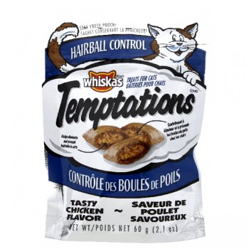 Whiskas Temptations Cat Treats Hairball Control Tasty Chicken Flavor