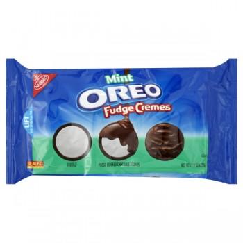Nabisco Oreo Cookies Fudge Cremes Mint