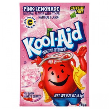 Kool-Aid Pink Lemonade Drink Mix Unsweetened - Makes 2 Quarts