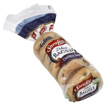 Sara Lee Deluxe Bagels Cinnamon Raisin Pre-Sliced - 6 ct
