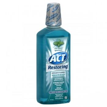 ACT Restoring Anticavity Mouthwash Cool Splash Spearmint