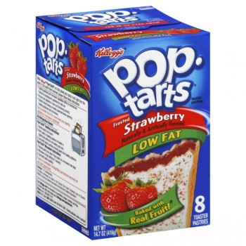 Kellogg's Pop-Tarts Frosted Strawberry Low Fat - 8 ct