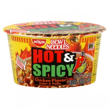 Nissin Bowl Noodles Soup Chicken Hot & Spicy