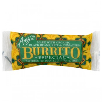 Amy's Burrito Especial (Black Beans, Rice & Tomatoes) Organic