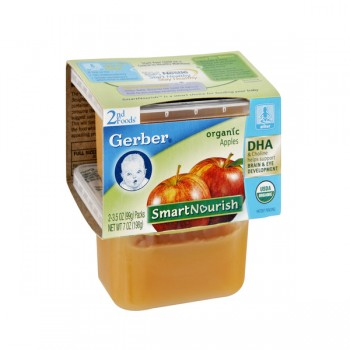 Gerber 2nd Foods SmartNourish DHA Apple Sauce Organic - 2 pk