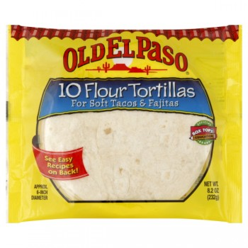 Old El Paso Tortillas Flour Soft 6 Inch - 10 ct