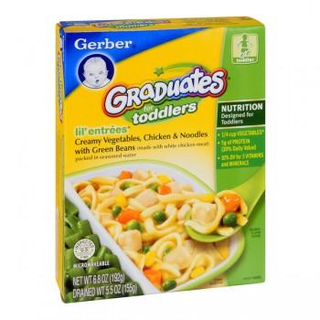 Gerber Graduates Lil' Entrees Creamy Vegetables Chicken Noodles Green Bean