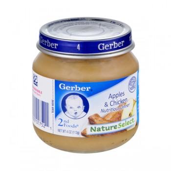 Gerber 2nd Foods Nature Select Apples & Chicken Dinner