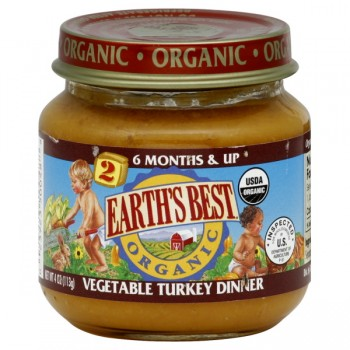 Earth's Best Stage 2 Dinner Vegetable Turkey Organic