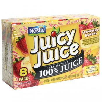 Nestle Juicy Juice 100% Strawberry Banana Juice - 8 pk