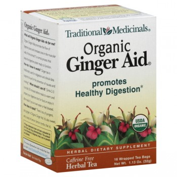 Traditional Medicinals Ginger Aid Herbal Tea Bags Organic